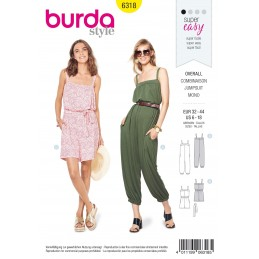 Burda Style Misses' Jumpsuit Romper Summer Wear Sewing Pattern 6318