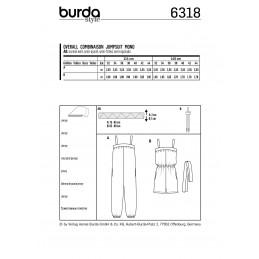Burda Style Misses' Jumpsuit Romper Onesie Summer Wear Sewing Pattern 6318
