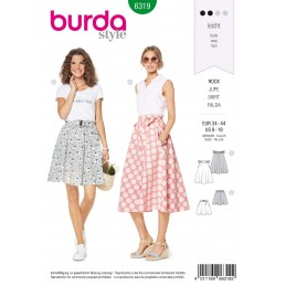 Burda Style Misses' Bell Shaped Flared Skirt Summer Wear Sewing Pattern 6319