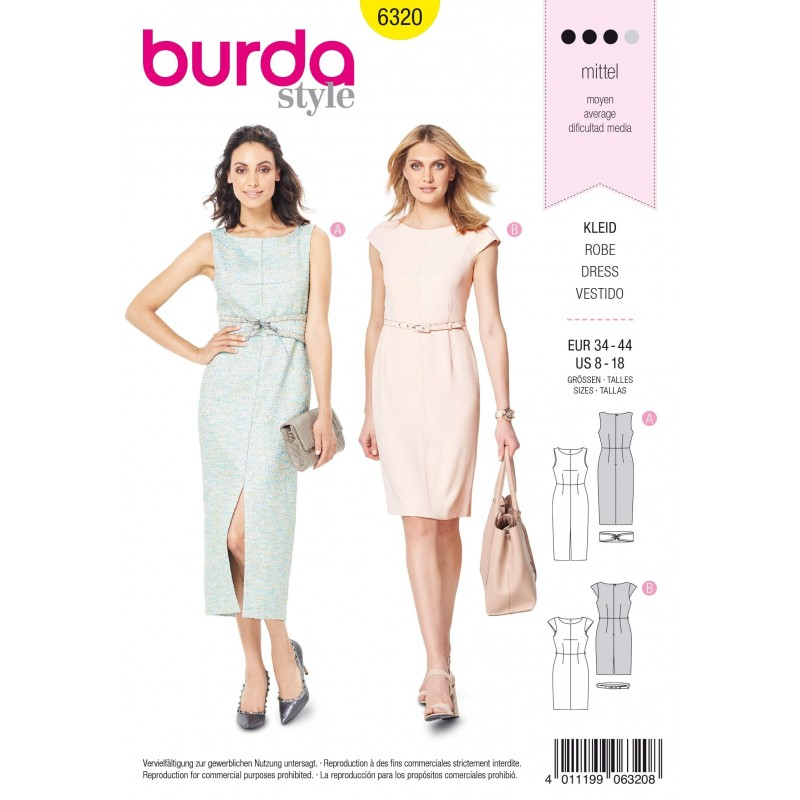 Burda Sewing Patterns Misses/' Assorted Dresses Casual Business Cocktail Formal