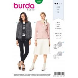 Burda Style Misses' Peplum Jacket Sporty Coat Formal Coat Sewing Pattern 6334