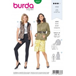 Burda Style Misses' Trendy Quilted Jacket Fashion Coat Sewing Pattern 6337