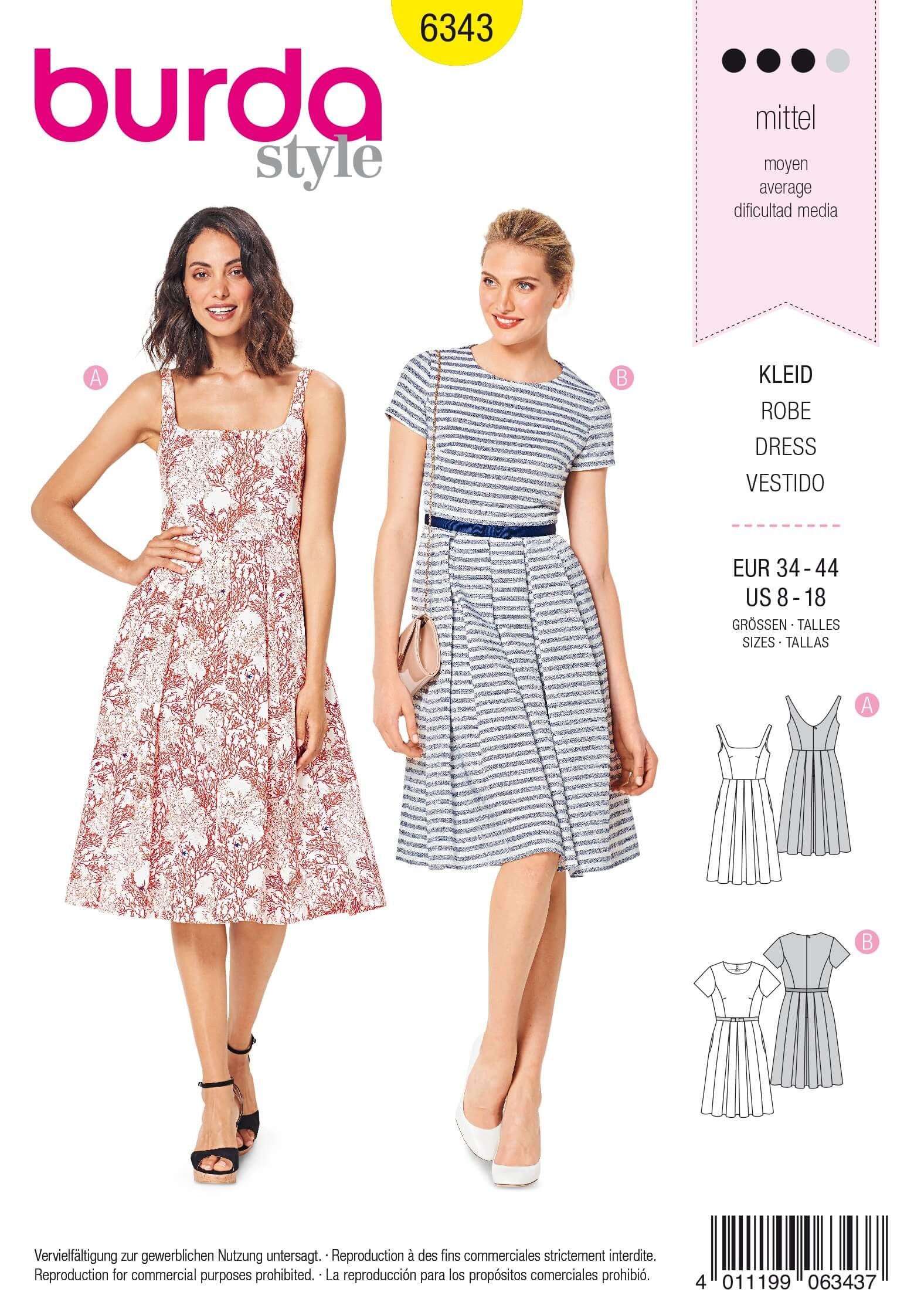 361f16fb2a Knitting Needles and Accessories Huge Selection. Shop Now. > Patterns>Sewing  Patterns>Burda Patterns>Dresses>Burda Style Misses' Pinafore Pleated Dress  ...