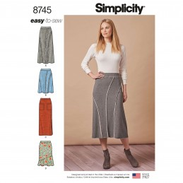Simplicity Pattern 8745 Misses Easy to Sew Knit Skirts Sewing Pattern