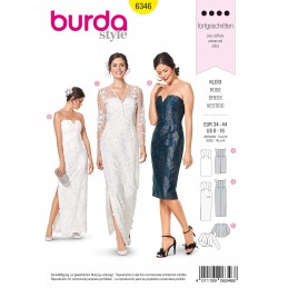 2a22da4c Out of stock Burda Style Misses' Bustier Dress V Neck Special Occasion Sewing  Pattern 6346
