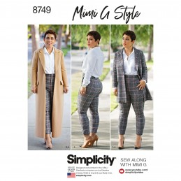 Simplicity Pattern 8749 Mimi G Coat & Trousers Set Sewing Pattern