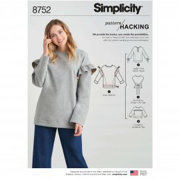 Simplicity Pattern 8752 Misses Knit Tops with Pattern Hacking Sewing Pattern
