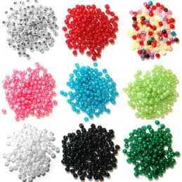 3mm Pearl Plastic Beads 3mm 19 Colours