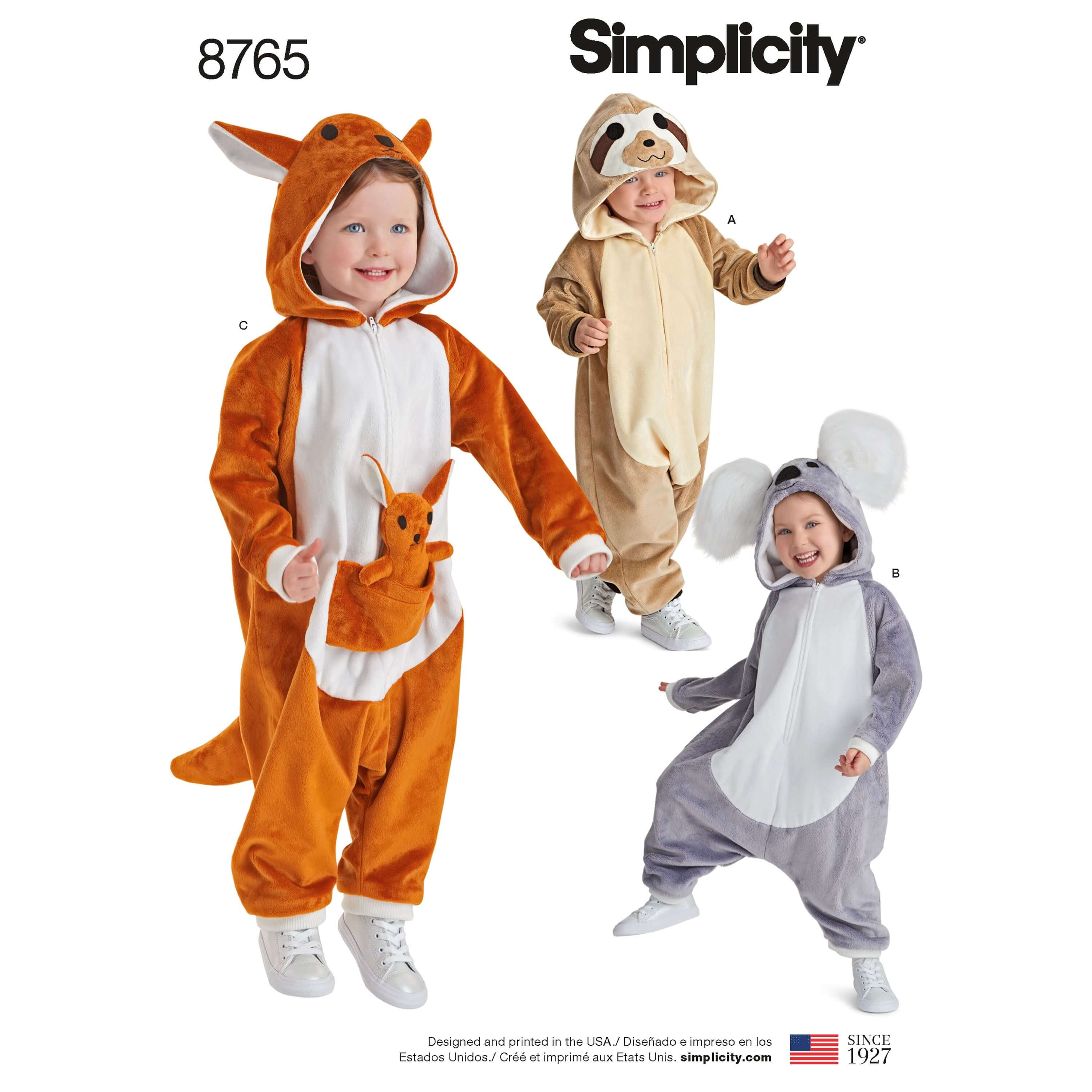 Simplicity Sewing Pattern 8765 Baby Toddler Fleece One Piece Babygrow