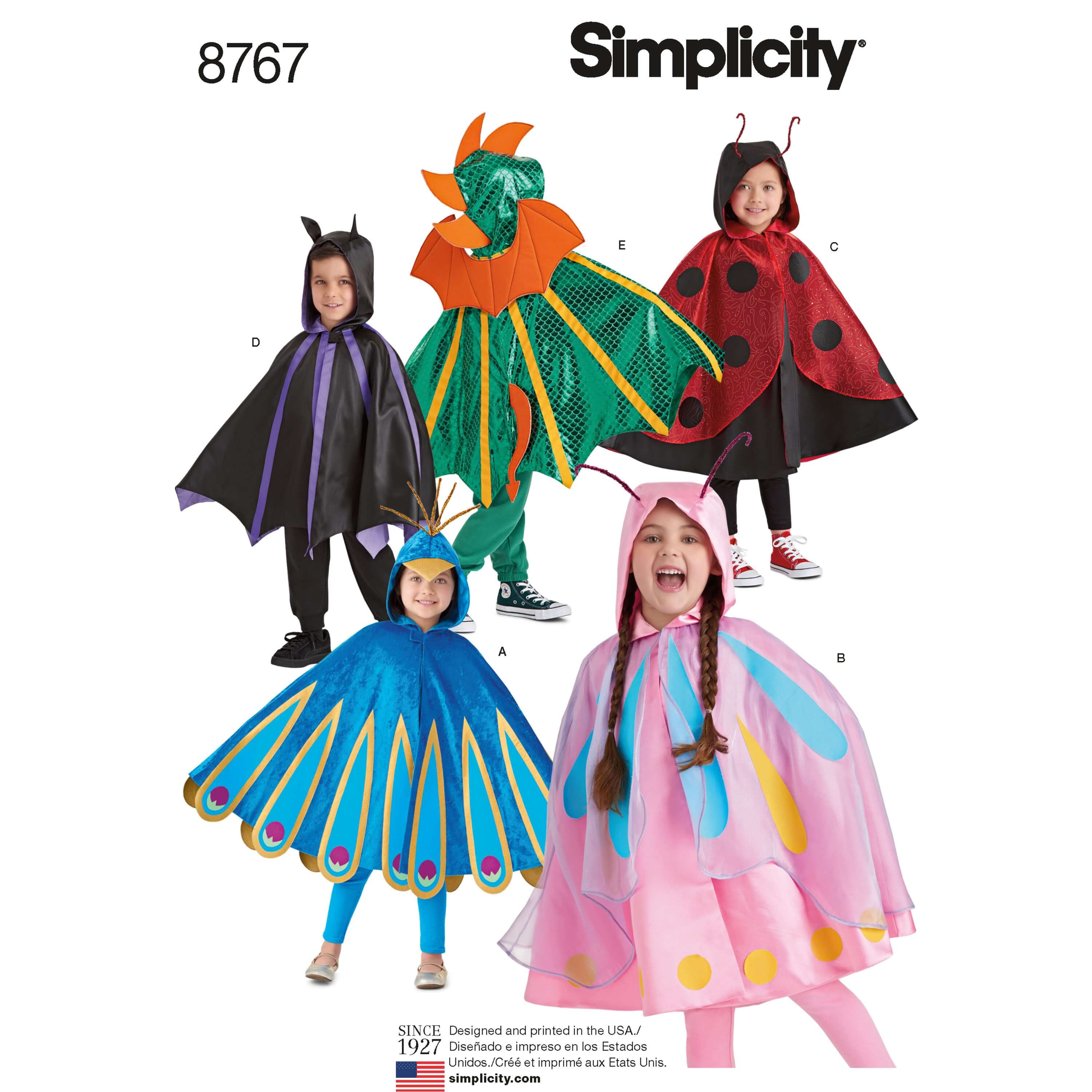 Simplicity Sewing Pattern 8767 Children's Costume Capes Fancy Dress