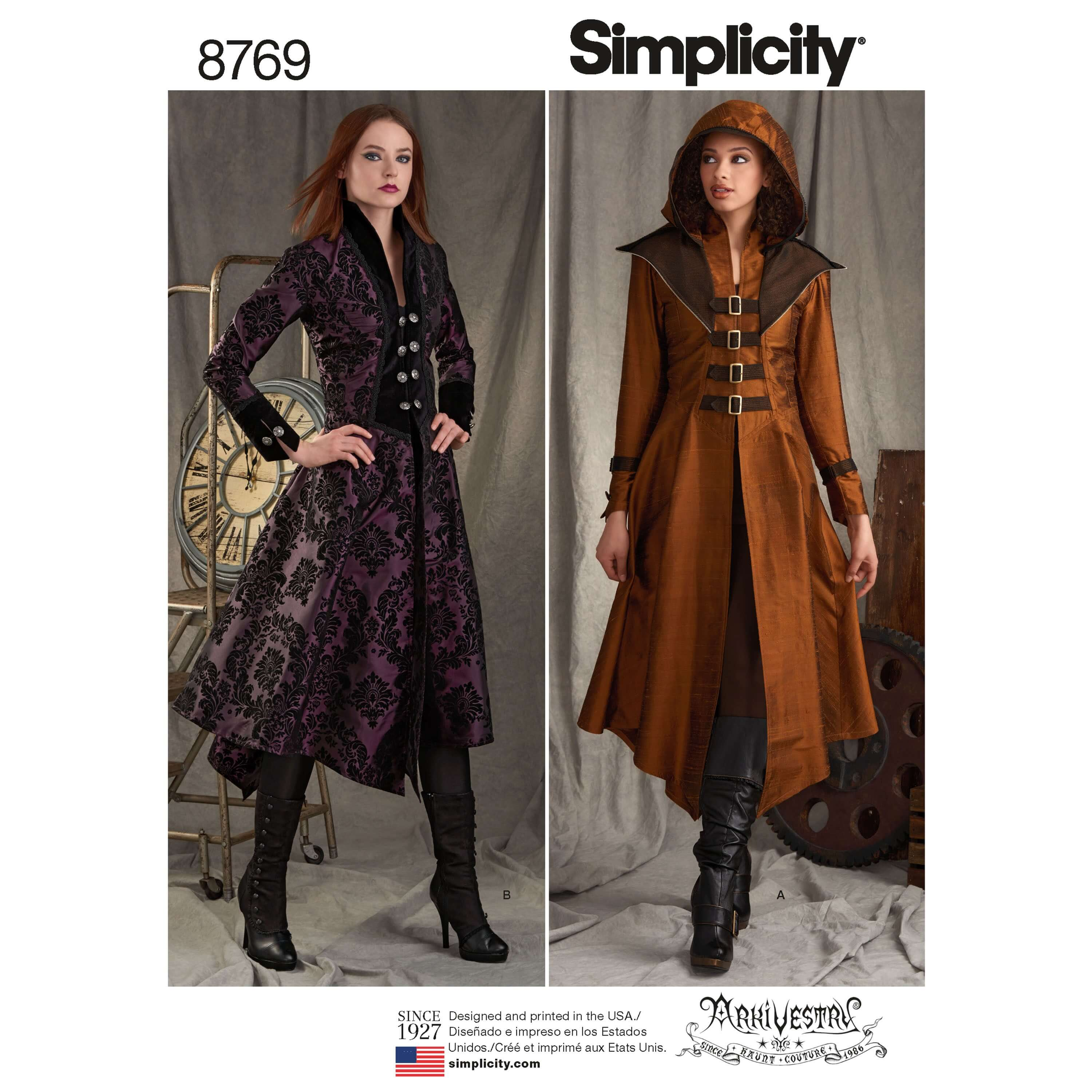 Simplicity Sewing Pattern 8769 Women's Military Costume Coat Cosplay