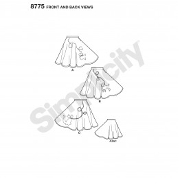 Simplicity Sewing Pattern 8775 Women's Rockabilly Poodle Skirts 50s Costumes