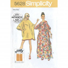 Simplicity Sewing Pattern 5628 Women's Easy to Sew 1970 Vintage Caftan