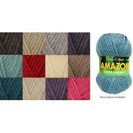 James C Brett Amazon Super Chunky 100g Knitting Yarn Knit Wool Craft