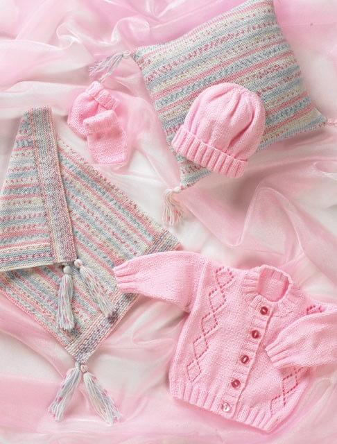 Knitting Pattern James C Brett Babies Jumper Cardigans Jumper Baby DK Shimmer