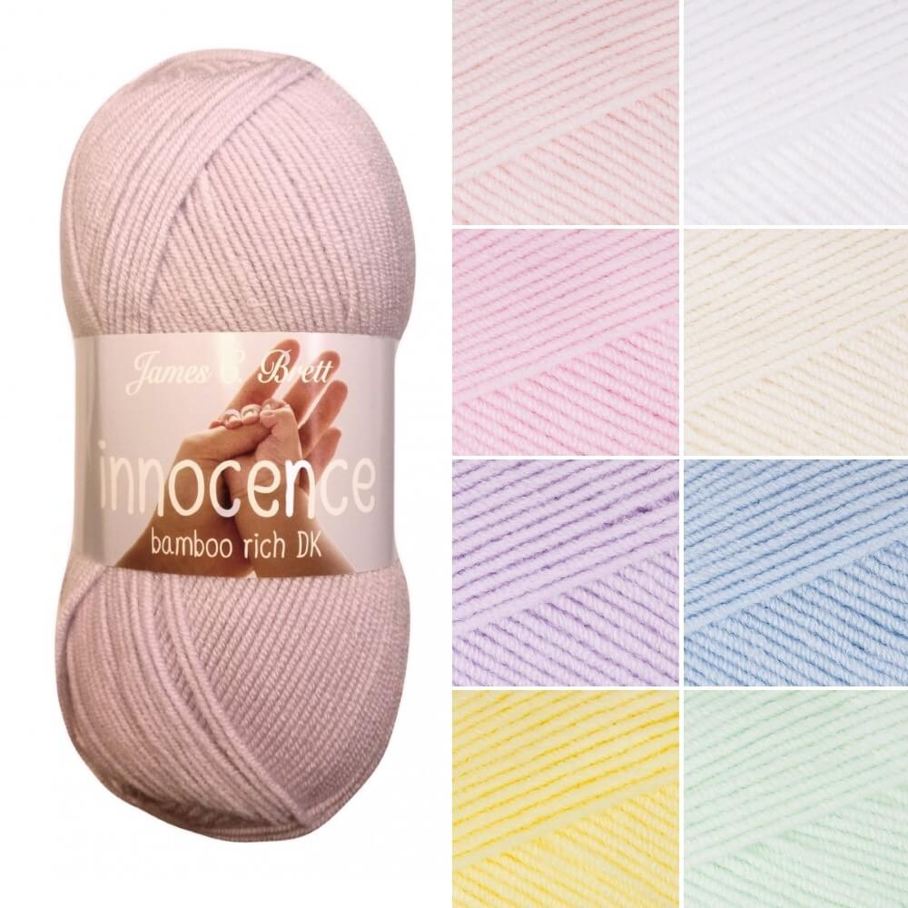 James C Brett Innocence DK Acrylic Bamboo Yarn Knitting Crochet Craft 100g Ball IN08
