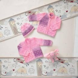 Knitting Pattern James C Brett JB009 Baby Marble DK Cardigan & Hat