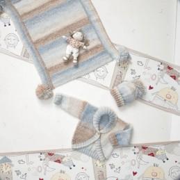 Knitting Pattern James C Brett JB011 Baby Marble DK Cardigan & Bobble Hat
