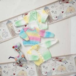 Knitting Pattern James C Brett JB012 Baby Marble DK Cardigan & Jumper