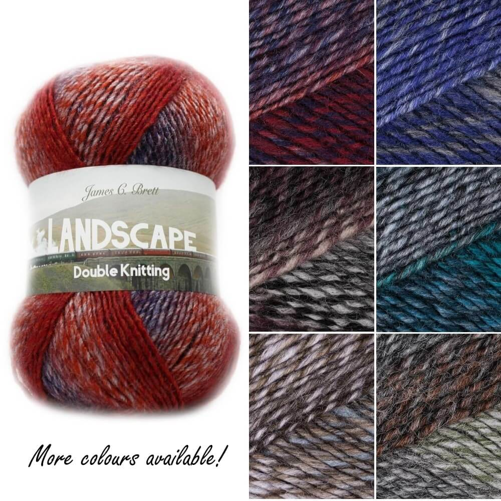 James C Brett Landscape DK Cotton Yarn Knitting Crochet Craft 100g Ball LS01