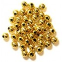 5mm Pearl Plastic Beads Gold