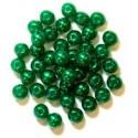 5mm Pearl Plastic Beads Green