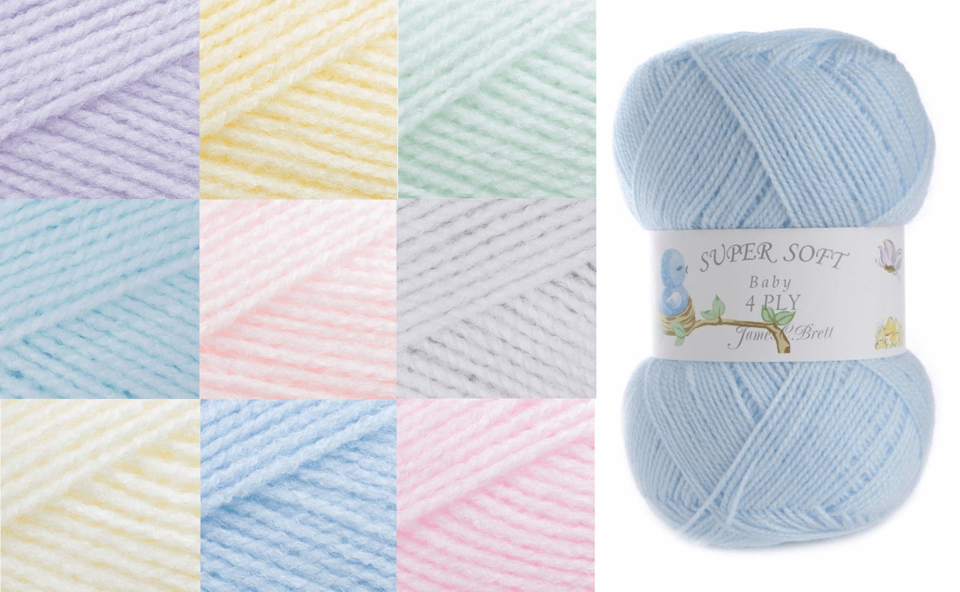 James C Brett Baby 4 Ply Yarn 100g Knitting Yarn Knit Wool Craft 100% Acrylic BY1