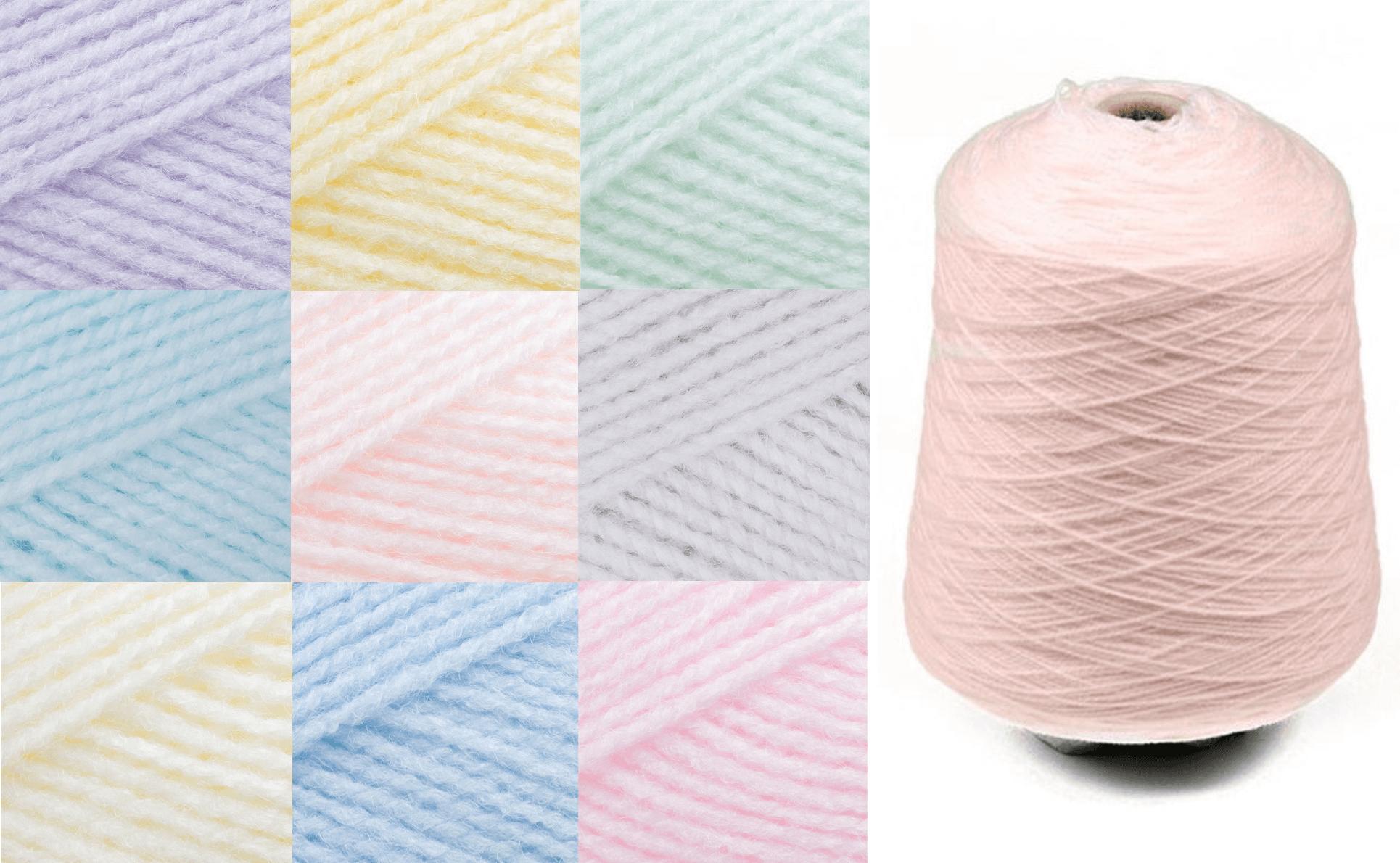 James C Brett Baby 4 Ply Yarn 500g Cone Knitting Yarn Knit Craft 100% Acrylic 5BY1