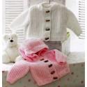 Knitting Pattern James C Brett JB172 Baby Flutterby Chunky Hooded Cardigan