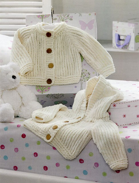 Knitting Pattern James C Brett JB198 Flutterby Chunky Hooded Cardigan