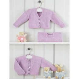Knitting Pattern James C Brett JB203 Baby DK Button Cardigan