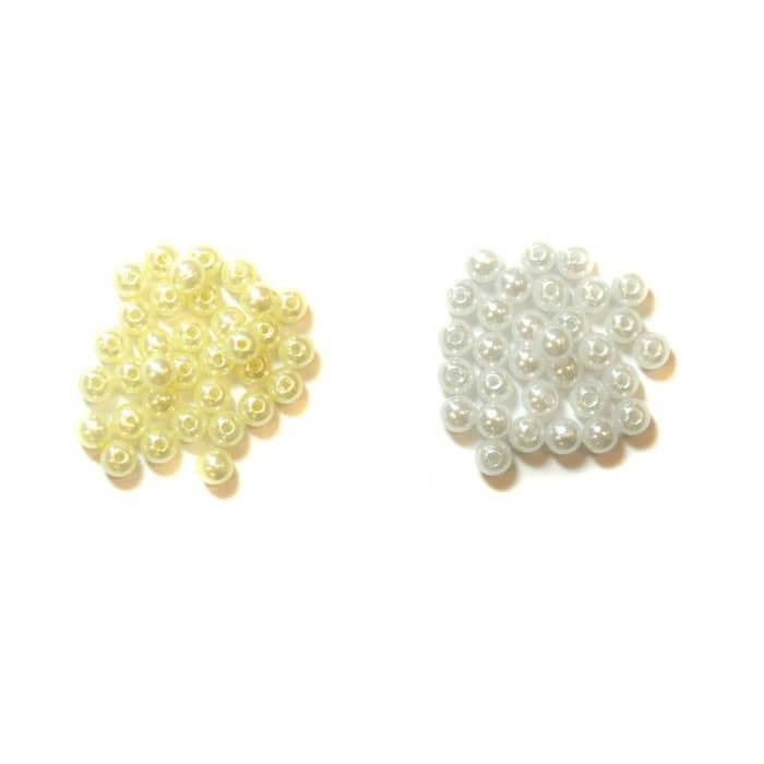 Cream Craft Beads 6mm In Pearl Or Cream