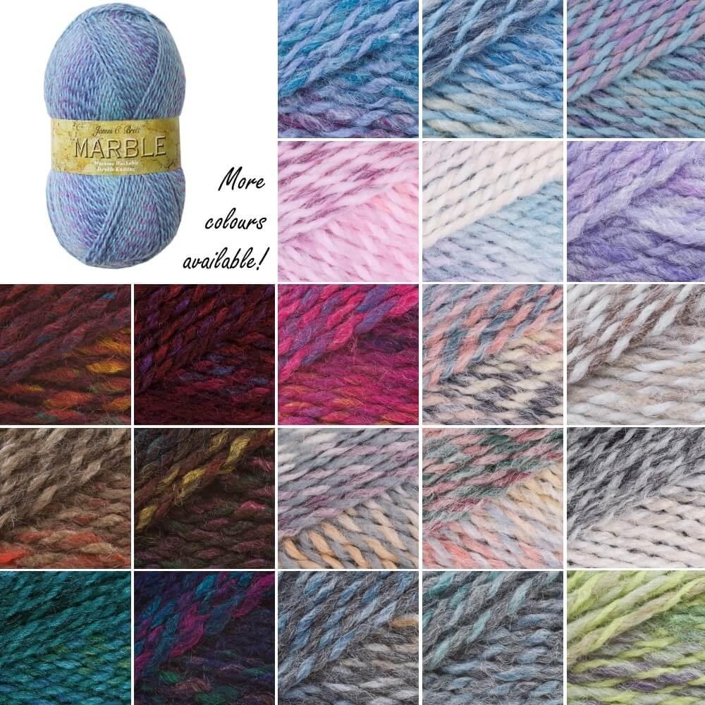 James C Brett Marble DK Acrylic Yarn Knitting Crochet Craft 100g Ball MT3