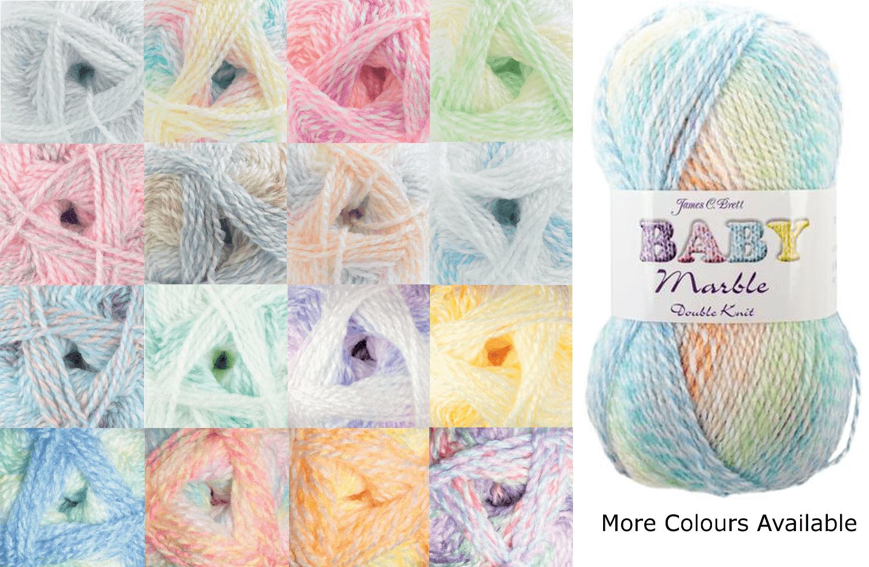 James C Brett Baby Marble DK Yarn 100g Knitting Yarn Knit Craft 100% Acrylic BM1