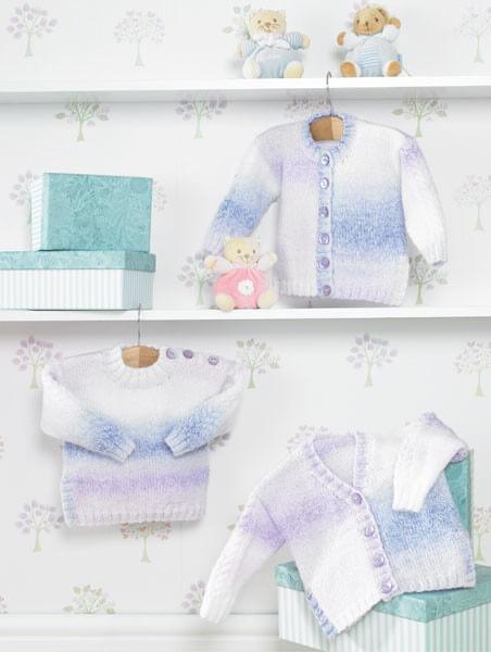Knitting Pattern James C Brett JB286 Baby DK Doulbe Knitting Cardigan & Vest
