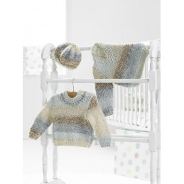 Knitting Pattern James C Brett JB351 Baby Chunky Cardigan & Vest