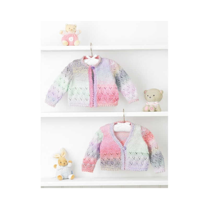 Knitting Pattern James C Brett JB354 Baby DK Chunky Cardigan & Vest