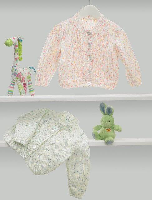 Knitting Pattern James C Brett JB374 Baby DK Chunky Cardigan & Vest