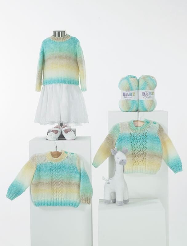 Knitting Pattern James C Brett JB440 Baby DK Chunky Cardigan & Vest