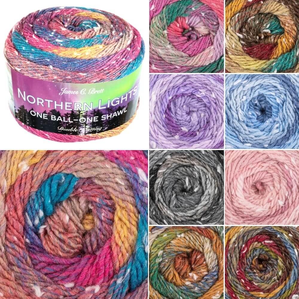 James C Brett Northern Lights DK Acrylic Yarn Knitting Crochet Craft 150g Ball NL09