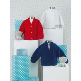 Knitting Pattern James C Brett JB448 Baby Chunky Cardigan & Vest