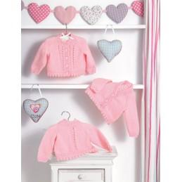 Knitting Pattern James C Brett JB482 Baby DK Cardigan & Vest