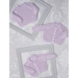 Knitting Pattern James C Brett JB510 Baby DK Cardigan & Vest