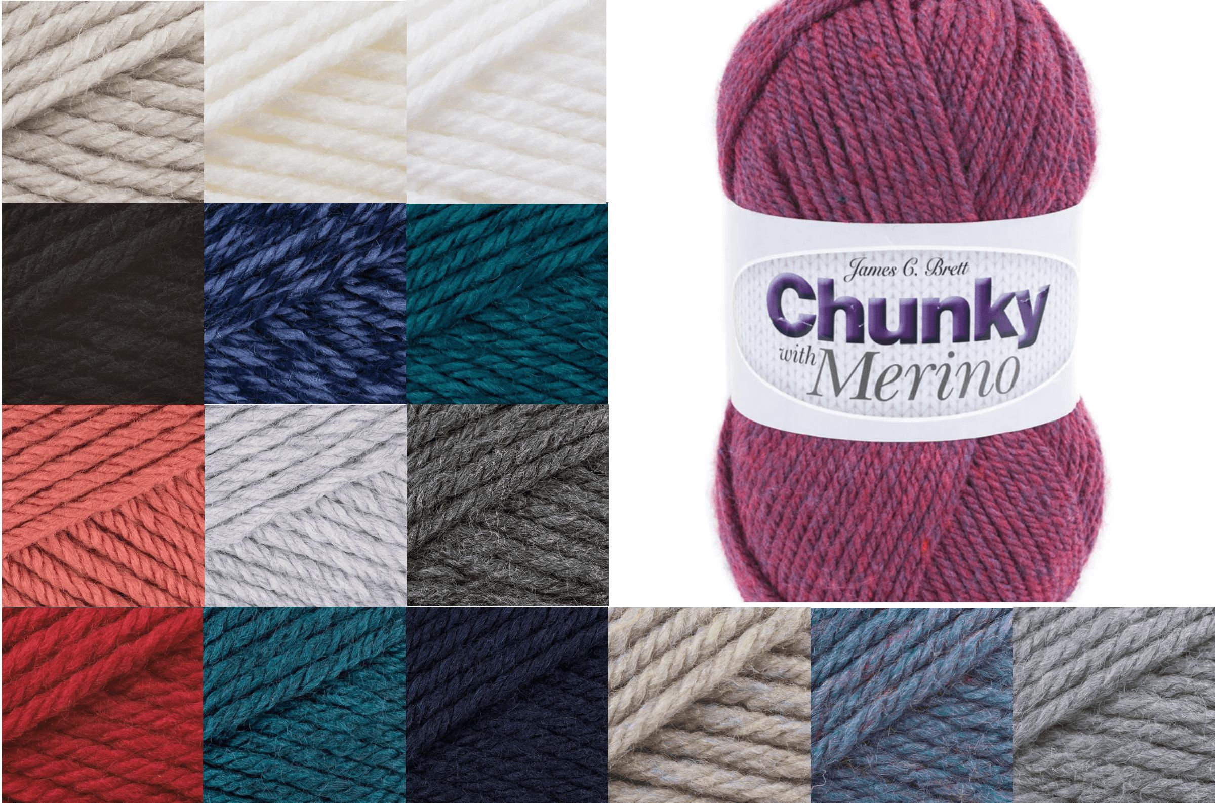 James C Brett Chunky With Merino Yarn 100g Ball Knitting Yarn Knit Craft CM1