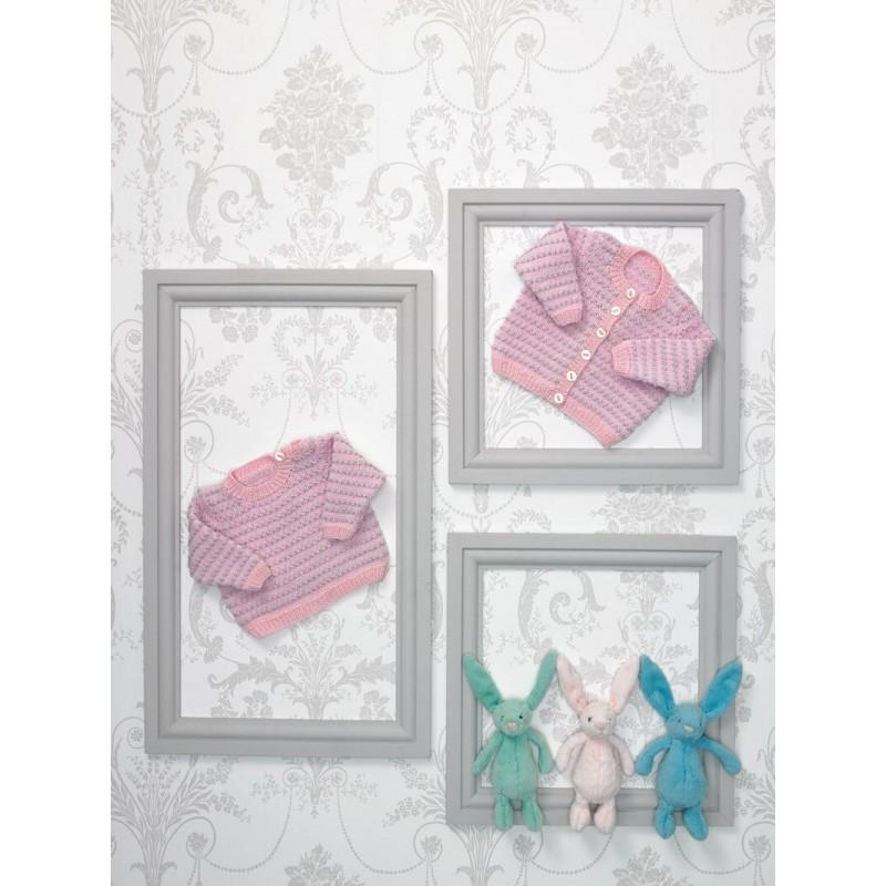 Knitting Pattern James C Brett JB558 Baby DK Cardigans