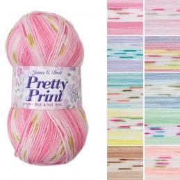 James C Brett Pretty Prints DK Acrylic Yarn Knitting Crochet Craft 100g Ball