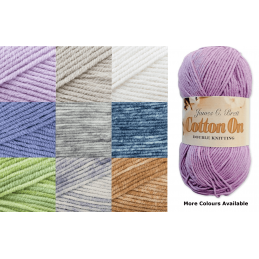 James C Brett Cotton On DK Yarn 50g Ball Knitting Yarn Knit Craft