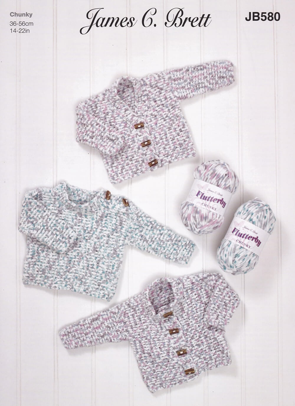 Knitting Pattern James C Brett JB580 Baby Chunky Cardigan & Jumper