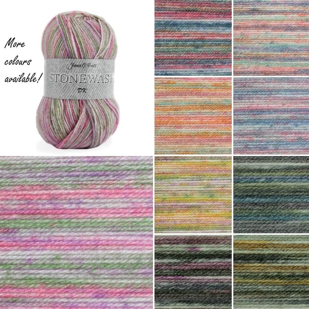 James C Brett Stonewash DK Acrylic Yarn Knitting Crochet Craft 100g Ball SW1
