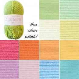 James C Brett Supreme Baby DK Acrylic Yarn Knitting Crochet Craft 100g Ball